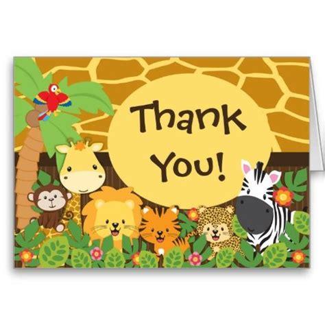 printable animal christmas cards cute jungle safari animals thank you card stationery