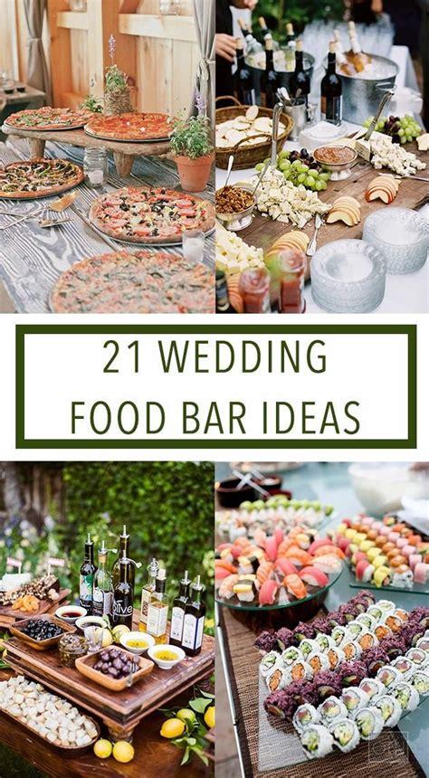 wedding reception buffet menu ideas 25 best ideas about wedding food bars on bar