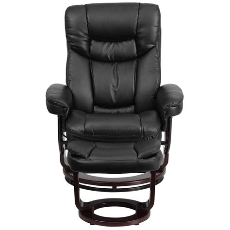 Modern Black Leather Recliner by Black Leather Recliner And Ottoman With