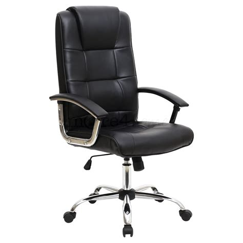 Office Chair For High Desk Grande High Back Executive Leather Office Chair Computer Desk Furniture