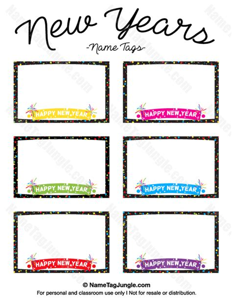 new year template printable printable new year s name tags