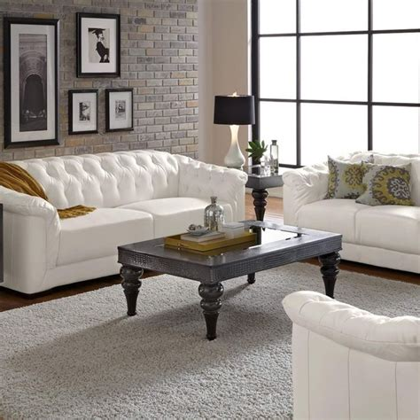 White Leather Living Room Chair - best 25 white leather sofas ideas on living