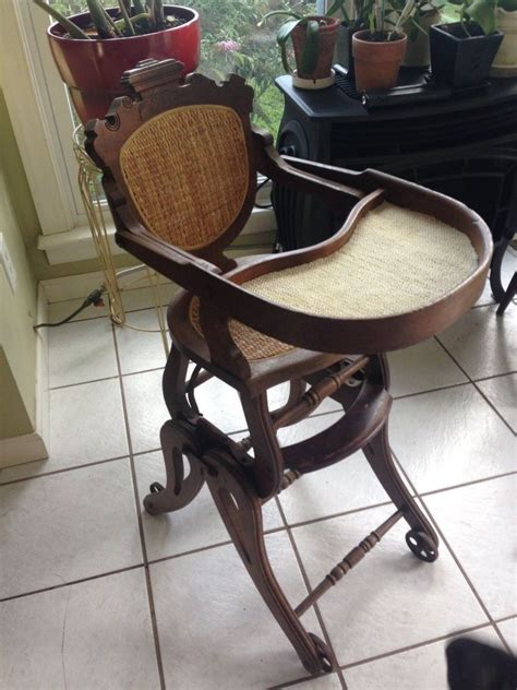 Vintage Convertible High Chair by Antique Convertible High Chair Ebay