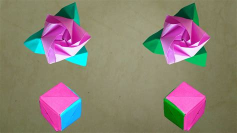 Origami Transforming Cube - how to make an origami magic cube diy origami