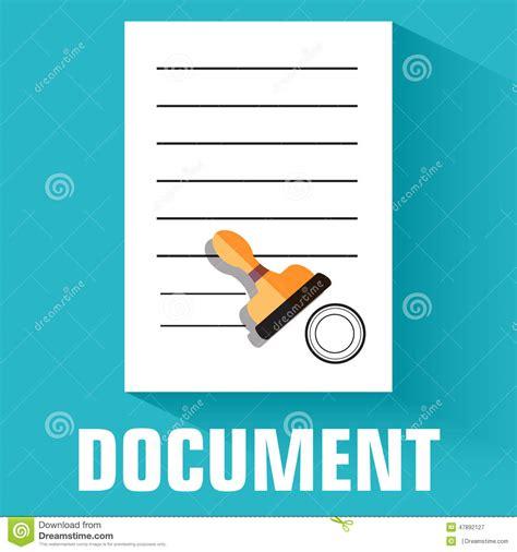 Vector Illustrations Design Concept Template flat document icon concept vector illustration stock
