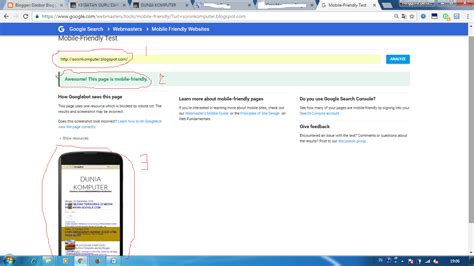 tutorial website mobile cara cek mobile friendly