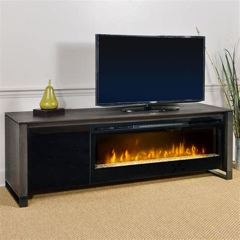 howden electric fireplace media console in weathered