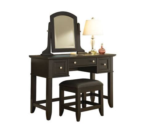 home styles vanity table home styles bedford black vanity table bench qvc com