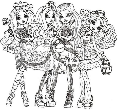 coloring pages ever after high raven queen ever after high briar beauty apple white raven queen