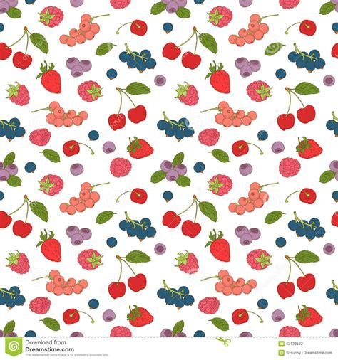pattern color flat hand drawn raspberry isolated on white background retro