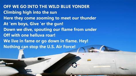 air sog we go into the blue yonder united states air