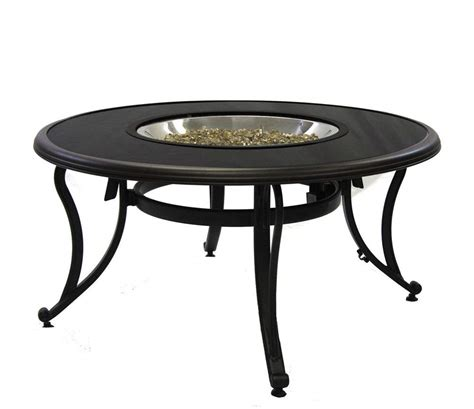 patio gas pit table outdoor greatroom black glass chat height gas pit table new ebay