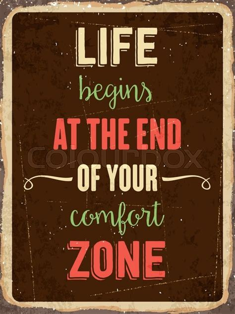 date format z at the end retro metal sign quot life begins at the end of your comfort