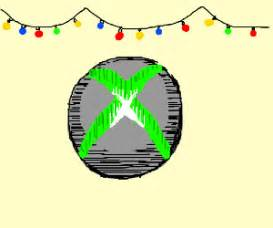 christmas lights over xbox symbol drawing by yappobiscuits