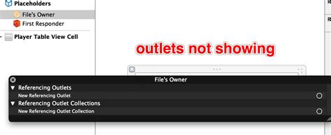 xcode outlets not showing in file owners stack overflow