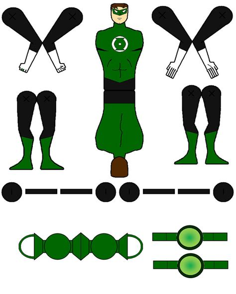 Green Lantern Papercraft - green lantern model figure by natduv on deviantart
