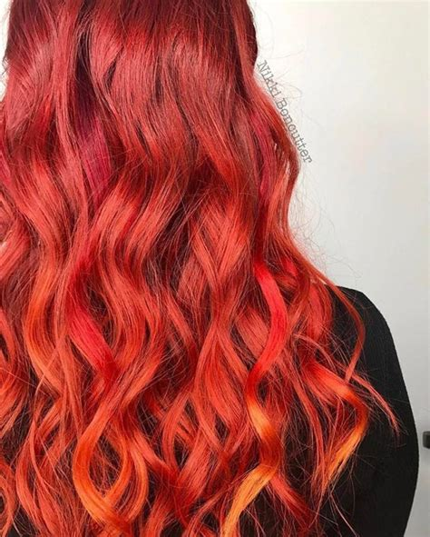 orange hair color ideas for 2017 new hair color ideas red orange and yellow hair hair multi funky color