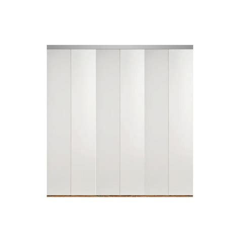 Solid Closet Doors Impact Plus 120 In X 80 In Smooth Flush White Solid Mdf Interior Closet Bi Fold Door With