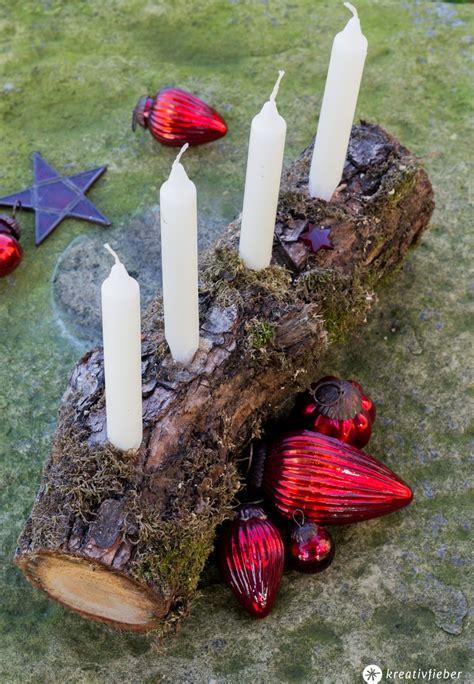 Adventskranz Aus Holz Basteln by Schnelle Adventskranz Alternative Aus Holz Diy