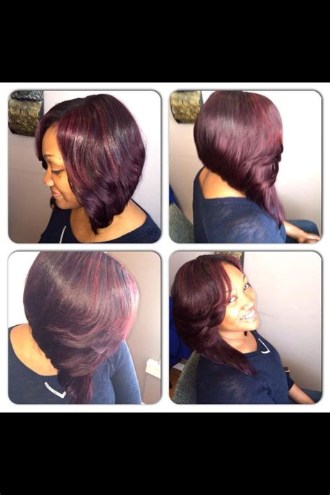 sew in bobs sew in bob burgundy hair pinterest bobs colors