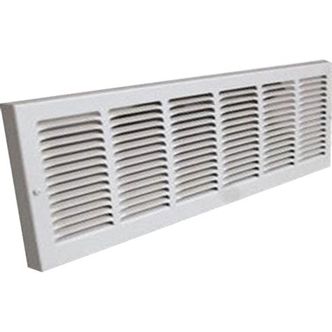 24x12 Soft White Baseboard Return Air Grille Steel