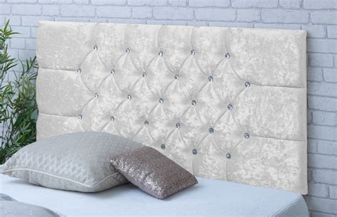 Velvet Buttoned Headboard by Chelsea Crushed Velvet Headboard