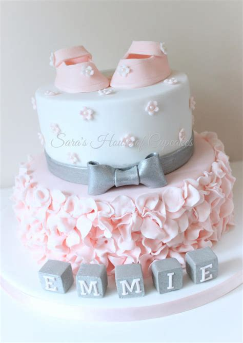 Pretty Baby Shower Cakes pretty baby shower cake by s house of cupcakes