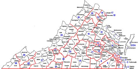 map virginia my map of virginia