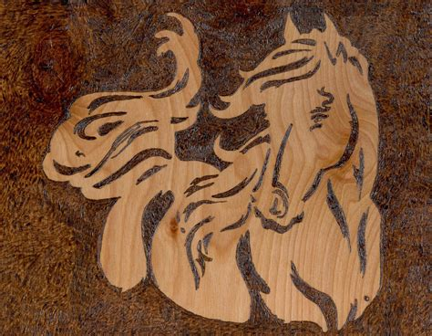 flowing horse woodburning