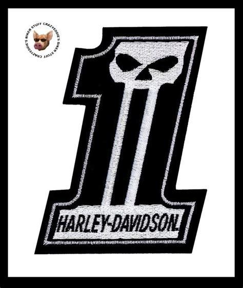 harley davidson number one skull harley davidson number 1 skull vest patch med made in