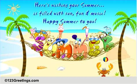 happy summer cards  happy summer wishes greeting cards