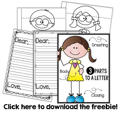 friendly letter writing freebie letter writing