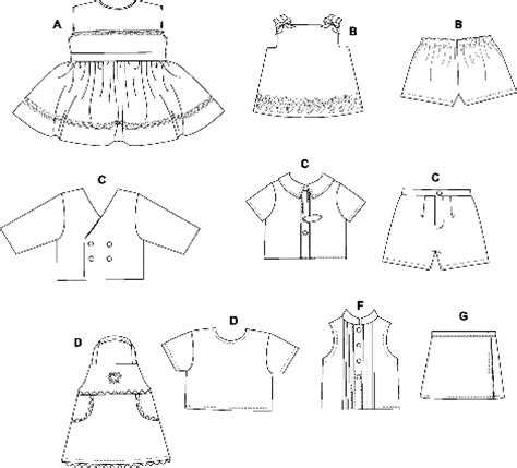 cat clothes pattern sew butterick 3491 doll clothes