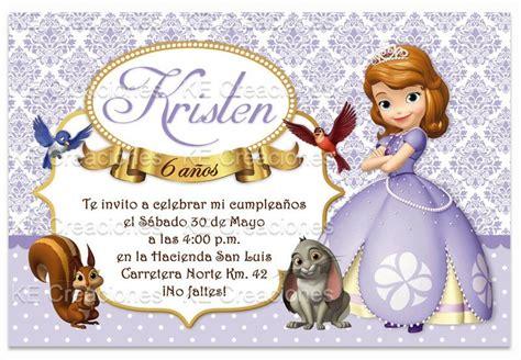 invitaci n de bautizo de princesa para imprimir kit imprimible princesa sofia the first invitaciones