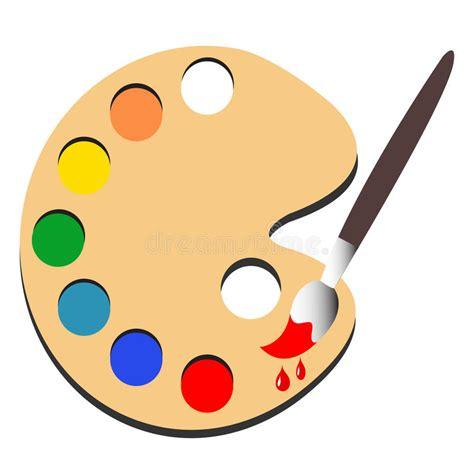 paint colors clipart brush paint with palette paint vector stock vector