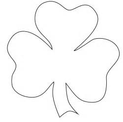 clover coloring page shamrock outline cliparts co