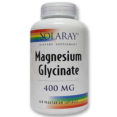 Magnesium Glycinate As A Detox by Solaray Magnesium Glycinate 400 Mg 120 Vegetarian