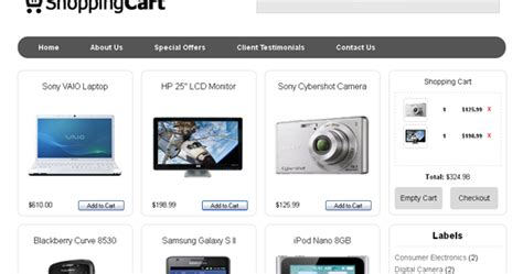 html shopping cart template template toko shopping cart belajar
