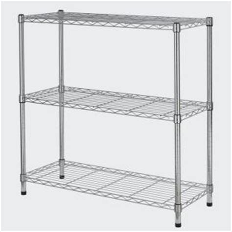 hdx wire shelving hdx 3 tier 35 7 in x 36 5 in x 14 in wire home use shelving unit eh wshdi 006 the home depot