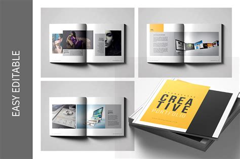 Graphic Design Portfolio Template By Top Design Thehungryjpeg Com Graphic Design Portfolio Template Indesign