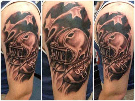 football helmet tattoo designs usa piercing and team usa on