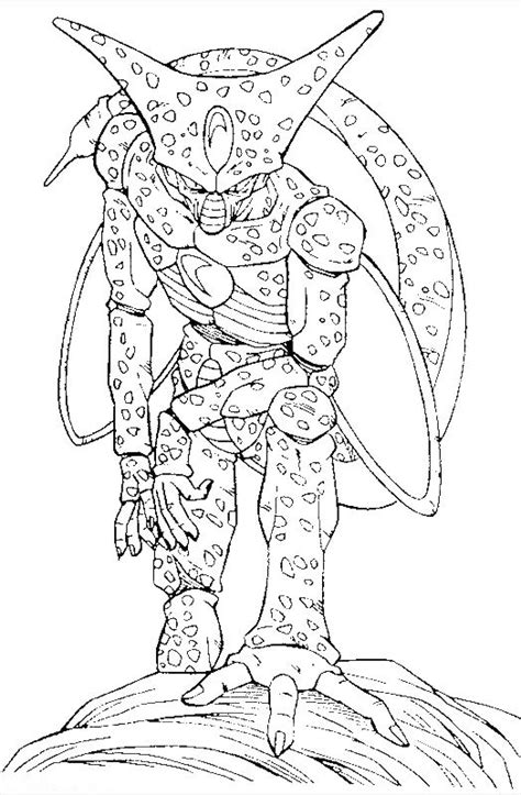 dragon ball monster cell coloring pages dragon ball