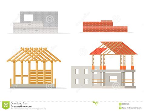 build in stages house plans industrial process of building new house stages stock