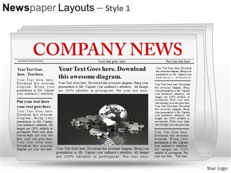 newspaper template powerpoint best photos of powerpoint newspaper layout editable