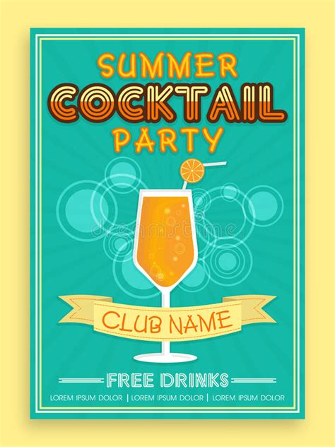 summer c brochure template free template brochure or flyer design for cocktail