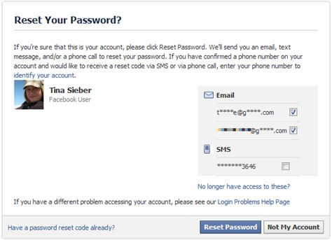 how do you reset your voicemail password at t how to recover your facebook account when you can no