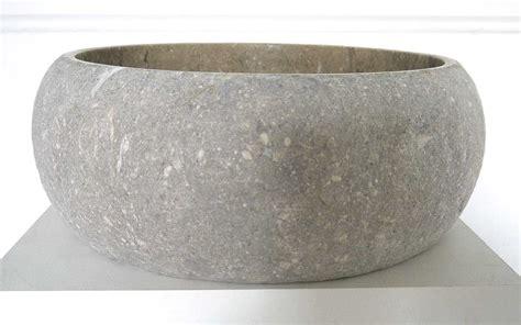garten waschbecken stein naturstein waschbecken kalkstein fossil natura