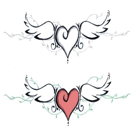 imagenes de corazones con alas y espinas dibujos de corazones con alas chidos para tatuajes dibujos