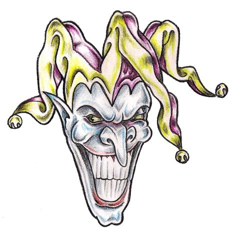 evil jester tattoo designs evil jester by tashitam on deviantart