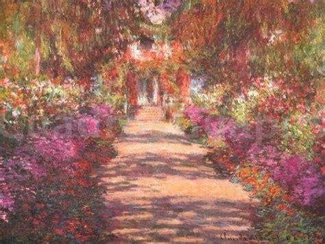 cuadros de manet monet jardin con flores cuadrosguapos